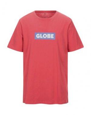 Футболка GLOBE. Цвет: красный