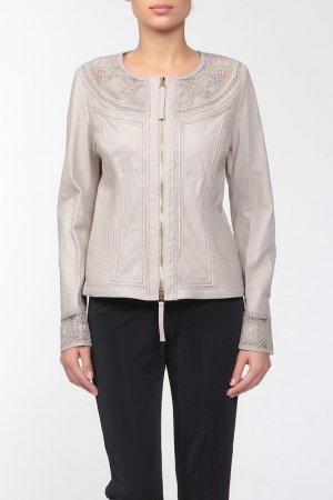 Кожаная куртка Blumarine. Цвет: мультицвет