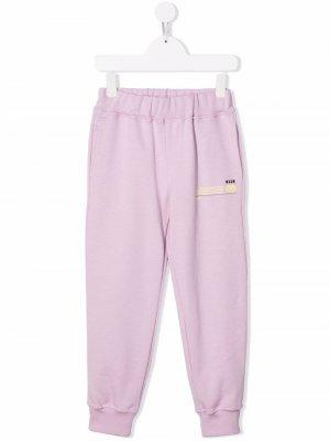 Future track pants MSGM Kids. Цвет: фиолетовый