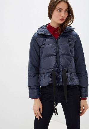 Куртка утепленная Pinko. Цвет: синий