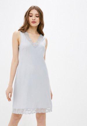 Сорочка ночная Deseo. Цвет: серый