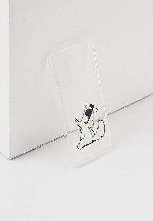 Чехол для телефона Karl Lagerfeld Galaxy S21, PC/TPU Choupette Fun. Цвет: прозрачный