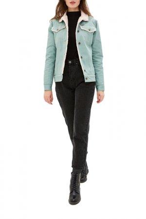 Куртка джинсовая Dasti. Цвет: зеленый