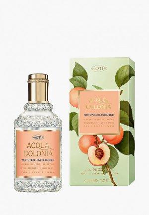 Одеколон 4711 Acqua Colonia  Balancing - White Peach & Coriander, 50мл. Цвет: прозрачный