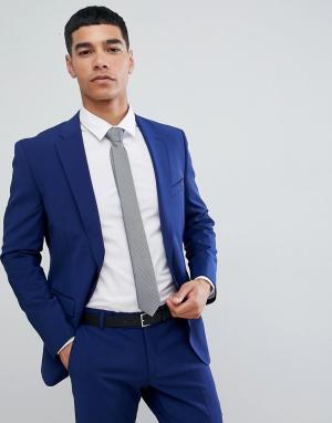 Синий приталенный пиджак Esprit