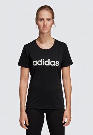 Футболка спортивная adidas D2M LOGO TEE. Цвет: черный