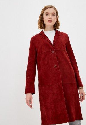 Куртка кожаная Снежная Королева. Цвет: бордовый