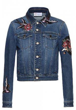 Джинсовая куртка VALENTINO RED. Цвет: голубой