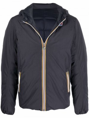 Двусторонняя куртка Jacques с капюшоном K-Way R&D. Цвет: синий