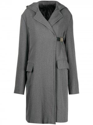 Пальто 1990-х годов с капюшоном Gianfranco Ferré Pre-Owned. Цвет: серый