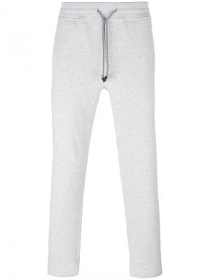 Классические спортивные брюки Brunello Cucinelli. Цвет: серый