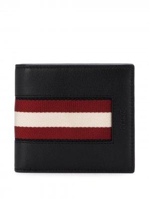 Бумажник с отделкой в полоску Bally. Цвет: черный