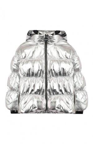 Куртка с капюшоном Givenchy. Цвет: серебряный
