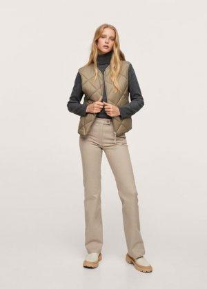 Расклешенные брюки из хлопка - Catalina Mango. Цвет: бежевый