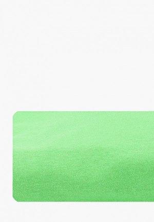 Простыня 1,5-спальная HappyFox. Цвет: зеленый