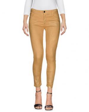 Джинсовые брюки 75 FAUBOURG. Цвет: охра