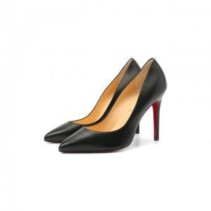 Кожаные туфли Pigalle 100 Christian Louboutin. Цвет: чёрный