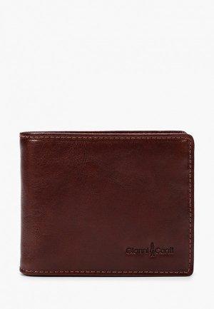 Кошелек Gianni Conti коричневый. Цвет: коричневый