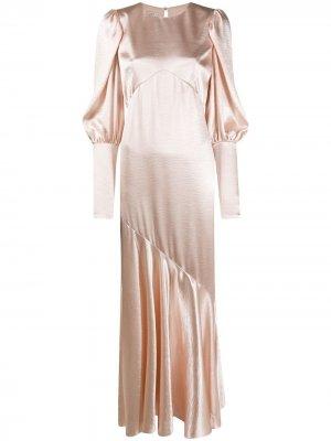 Платье с драпировкой Philosophy Di Lorenzo Serafini. Цвет: розовый
