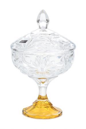 Конфетница Bohemia. Цвет: золотой, прозрачный