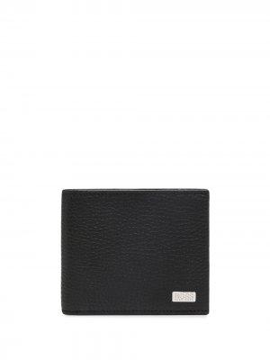 Бумажник с логотипом BOSS. Цвет: черный
