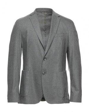 Пиджак BOSS HUGO. Цвет: серый