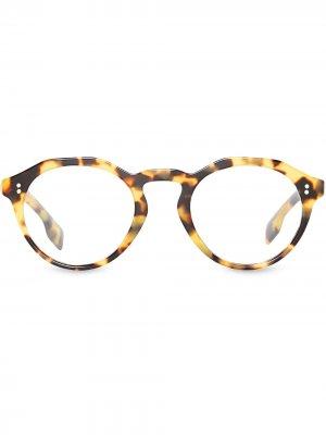 Круглая оправа для очков Burberry Eyewear. Цвет: коричневый