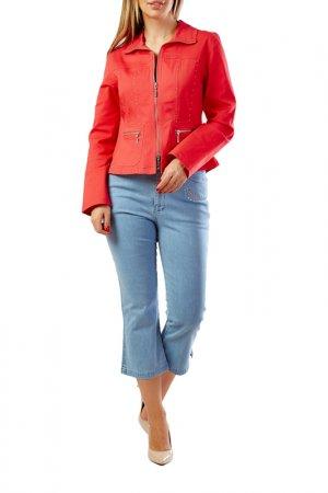 Куртка LAFEI-NIER. Цвет: светло-красный
