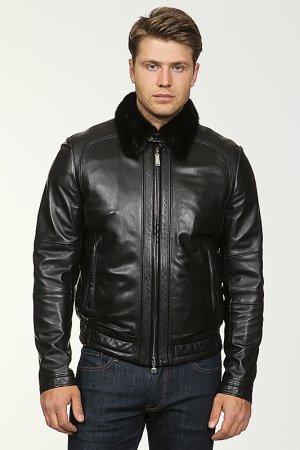 Куртка кожаная, подстежка Massimo Sforza. Цвет: не указан
