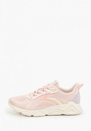 Кроссовки Anta Running. Цвет: розовый