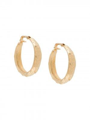 Декорированные серьги-кольца Kenneth Jay Lane. Цвет: золотистый