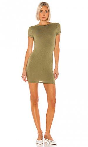 Платье-майка terra superdown. Цвет: зеленый