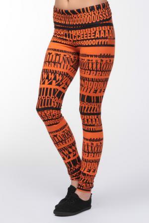 Леггинсы D&G. Цвет: оранжевый