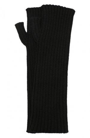 Кашемировые митенки Dolce & Gabbana. Цвет: чёрный
