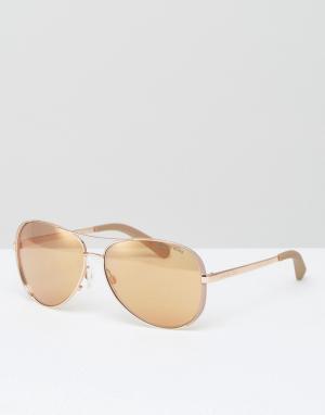 Солнцезащитные очки‑авиаторы Michael Kors. Цвет: золотой
