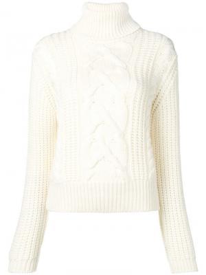 Свободный свитер с узором Jacob Cohen. Цвет: белый