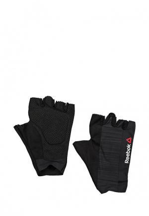 Перчатки для фитнеса Reebok. Цвет: черный
