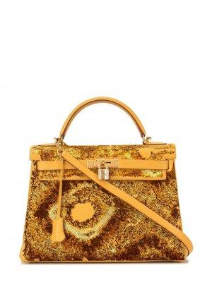 Pristine, Kelly 32cm, Tie Dye, Jaune dor, Leather Epsom, GHW - Final Sale Jay Ahr. Цвет: gold