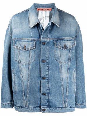 Джинсовая куртка с приспущенными плечами Acne Studios. Цвет: синий
