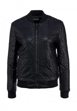 Куртка кожаная Concept Club. Цвет: синий