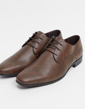 Светло-коричневые дерби -Светло-коричневый Burton Menswear