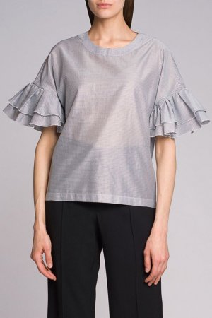 Блузка CAPPELLINI. Цвет: серый