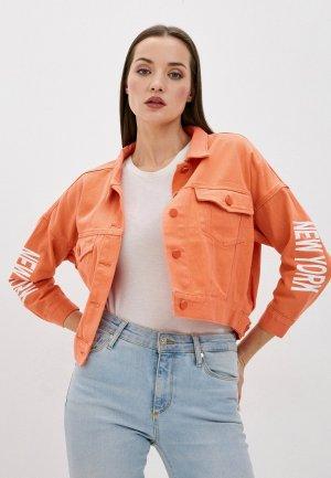 Куртка джинсовая Forza Viva. Цвет: оранжевый