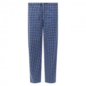 Домашние брюки из хлопка и шерсти Roberto Ricetti. Цвет: синий