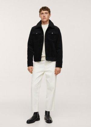 Вельветовая куртка на подкладке из искусственной овчины - Morys Mango. Цвет: черный