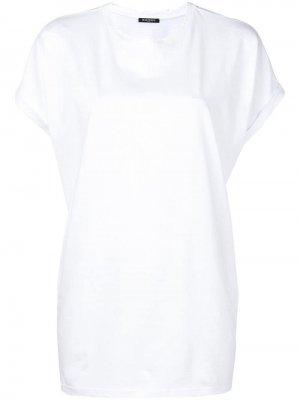 Однотонная футболка Balmain