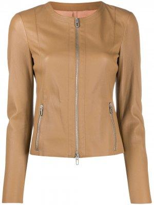 Zip-through collarless jacket Drome. Цвет: нейтральные цвета