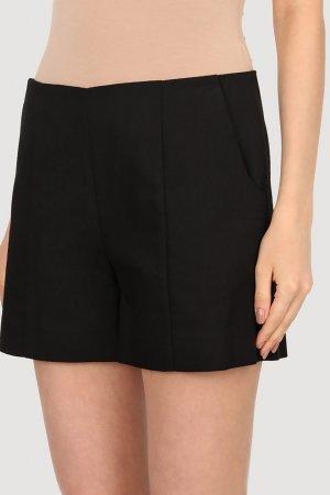Черные мини-шорты Chapurin. Цвет: черный