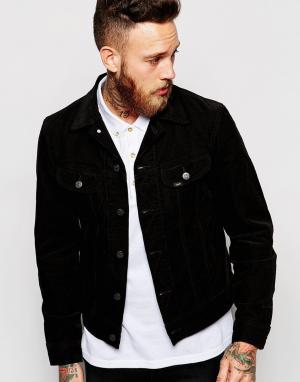 Джинсовая куртка зауженного кроя Lee. Цвет: черный