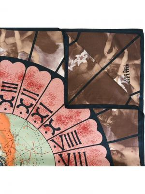 Платок Stars and Angel Jean Paul Gaultier Pre-Owned. Цвет: синий